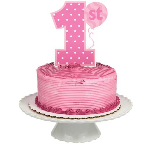 1st Birthday Girl Cake Topper Non Stop Party Shop
