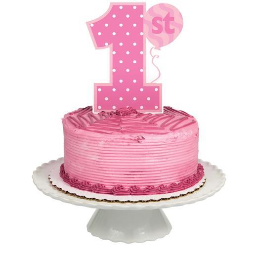 Astounding 1St Birthday Girl Cake Topper Non Stop Party Shop Personalised Birthday Cards Beptaeletsinfo