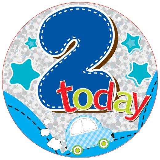 2nd Birthday Boy Badge
