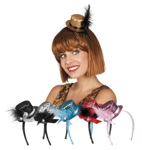 453fed7eee778 Mini Glitter Top Hat - Non Stop Party Shop