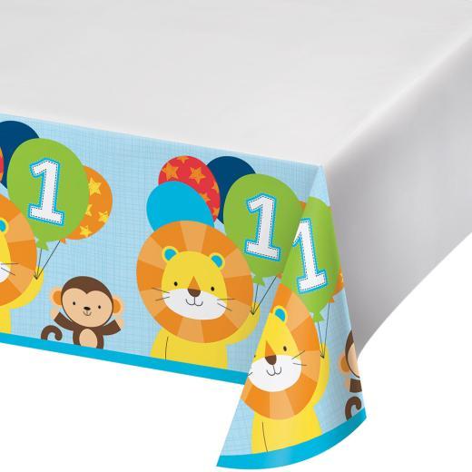 "54/"" x 102/"". 137 cm x 259 cm LAST ONE! Sparkling Happy Birthday Table Cloth"
