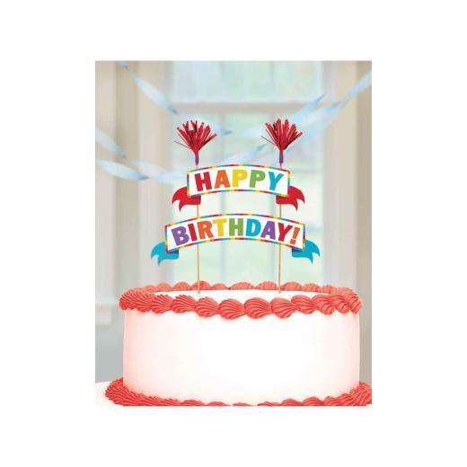 Rainbow Birthday Cake Pick Banner